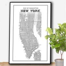 画像2: NEW YORK ニューヨーク マンハッタン Map 地図 ポスター (2)
