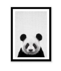 画像2: パンダ ★ アニマル モノクロ アート 動物ポスター (2)