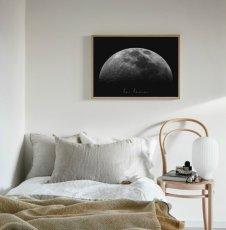 """画像2: """"La Luna"""" Moon お月さま おしゃれモノトーン アート ポスター (2)"""