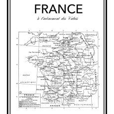 画像2: FRANCE フランス Vintage Map (1928) ヴィンテージマップ ポスター (2)