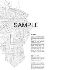 画像3: PARIS France パリ Map Simply マップポスター (3)