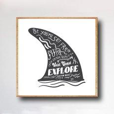 画像1: WEST COAST - SURF BORD FIN サーフボードフィン アートポスター (1)