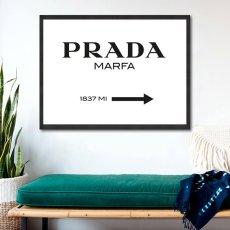 画像3: PRADA Marfa プラダ マーファ アート ポスター(白) (3)
