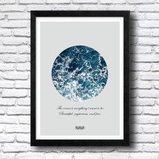 画像2: Deep Ocean Splash 海 名言  おしゃれ ポスター (2)