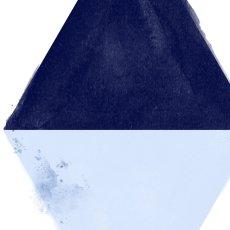 画像2: DIAMOND ダイヤモンド モダン インディゴ アート ポスター (2)