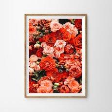 画像2: RED FLOWERS フローラル ポスター 2枚セット (2)