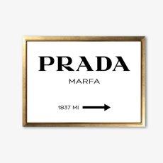画像1: PRADA Marfa プラダ マーファ アート ポスター(白) (1)