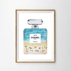 画像1: CHANEL シャネル No.5  BEACH IN THE パフュームボトル ポスター (1)