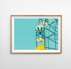 画像1: Ferris wheel 観覧車 スタイリッシュ アートポスター (1)