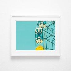 画像2: Ferris wheel 観覧車 スタイリッシュ アートポスター (2)