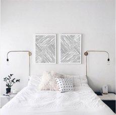 画像2: Minimalism Modern Stripe ミニマリズム モダンストライプ ポスター (2)