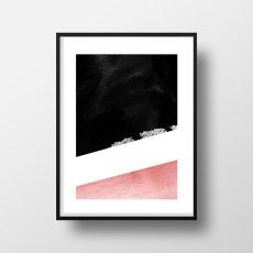 画像2: Modern Geometric 和モダン ジオメトリック 2Tone ポスター (2)