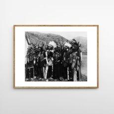 画像1: NATIVE AMERICAN インディアン All together ポスター (1)