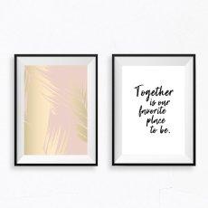 画像1: Together is our favorite place to be  メッセージ アートポスター2枚組セット (1)