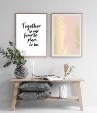 画像2: Together is our favorite place to be  メッセージ アートポスター2枚組セット (2)