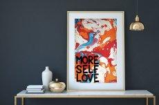 画像4: MORE SELF LOVE マーブルアート ポスター (4)