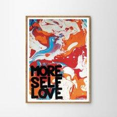 画像2: MORE SELF LOVE マーブルアート ポスター (2)