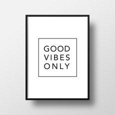 画像3: マーブル モノトーン GOOD VIBES ONLY  おしゃれポスター(2枚組) (3)
