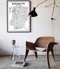 画像2: BROOKLYN NY ブルックリン MAP マップ ポスター (2)