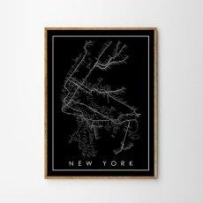画像1: MTA NYC Subway Map 地下鉄マップ ポスター (1)
