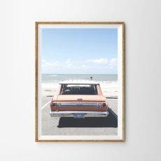 画像1: OLD VINTAGE CAR ビンテージ キャデラック ポスター (1)