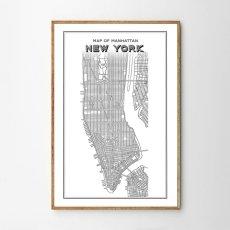 画像1: NEW YORK ニューヨーク マンハッタン Map 地図 ポスター (1)