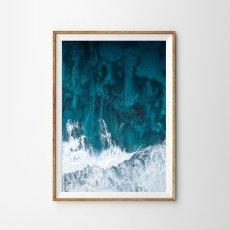 画像1: サーファー WAITING BIG WAVES ポスター (1)