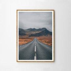 画像1: 砂漠道 ロード ポスター (1)