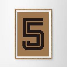 画像2: Number 5 Fargo 数字ポスター(全2色) (2)