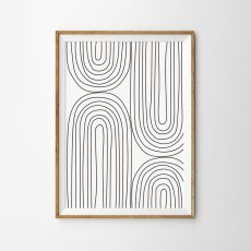 画像1: Stripe Line Art ストライプライン ポスター (B) (1)