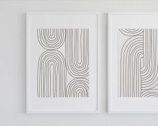 画像3: Stripe Line Art ストライプライン ポスター (A) (3)