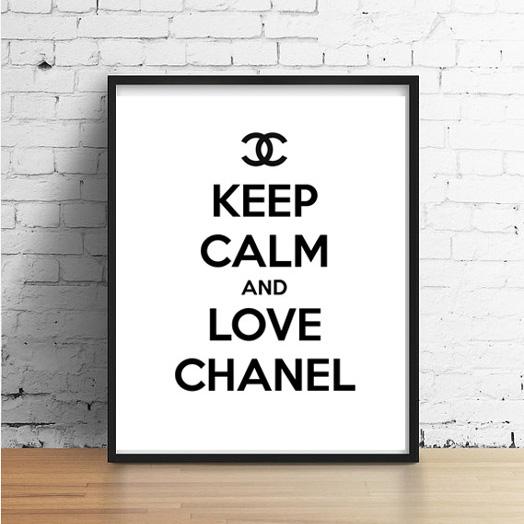 画像1: CHANEL シャネル KEEP CALM & LOVE ポスター (1)