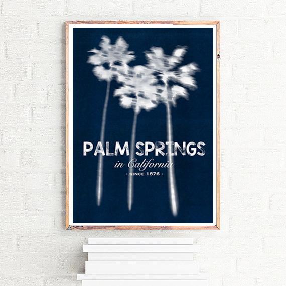 画像1: カリフォルニア州 Palm Springs (パームスプリングス)記念 アートポスター (1)