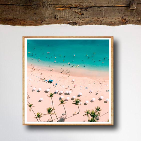 画像1: ALOHA!! トロピカル ビーチ BEACH  ポスター (1)