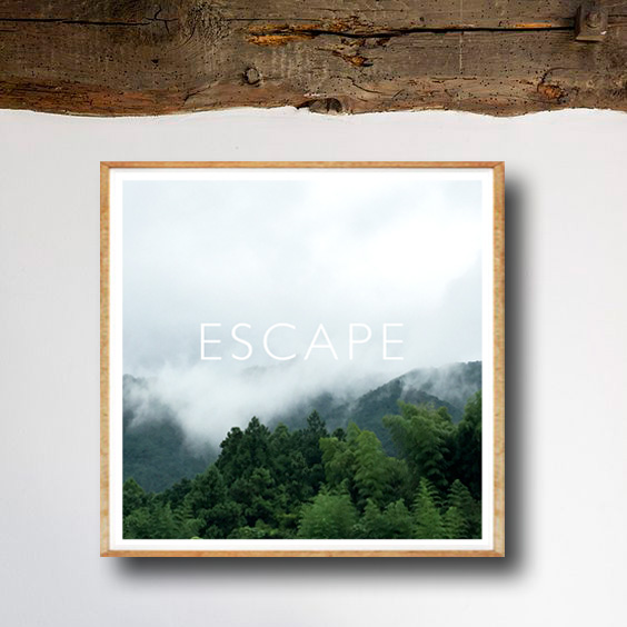 画像1: ESCAPE -  雨上がりのフォレスト  ポスター (1)