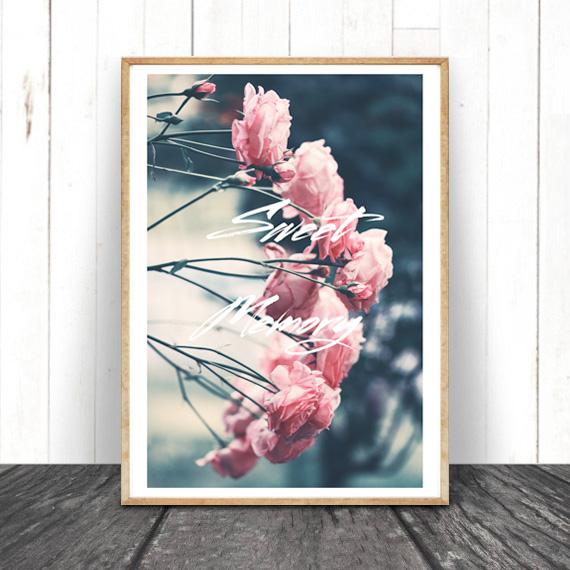 画像1: SWEET MEMORY -  カーネーション FLOWER お花 ポスター (1)