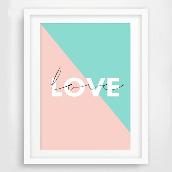 """画像1: """"LOVE""""  ポスター (1)"""