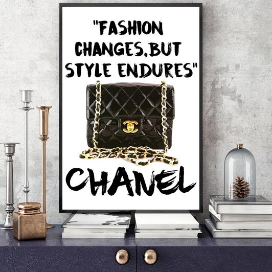 画像1: CoCo CHANEL ココシャネル 名言 パロディ グラフィック ファッションポスター (1)