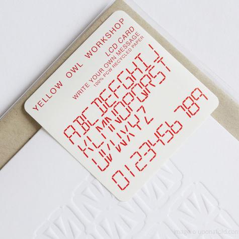 画像1: Yellow Own Workshop (イエロー・オウル・ワークショップ) - LCD 自分で描くメッセージ  ポストカード (1)