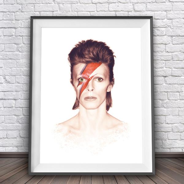 画像1: DAVID BOWIE (デヴィッド・ボウイ)Ziggy Stardust 1973年 カバーアートポスター (1)