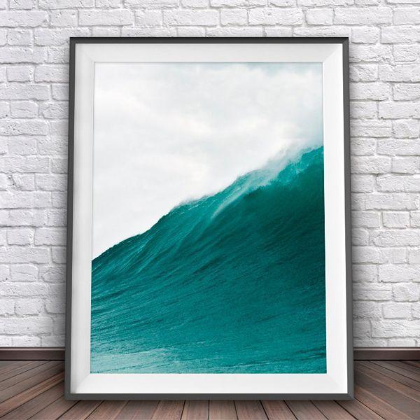 画像1: Ocean Wave オーシャン 波 サーフパイプ ポスター (1)