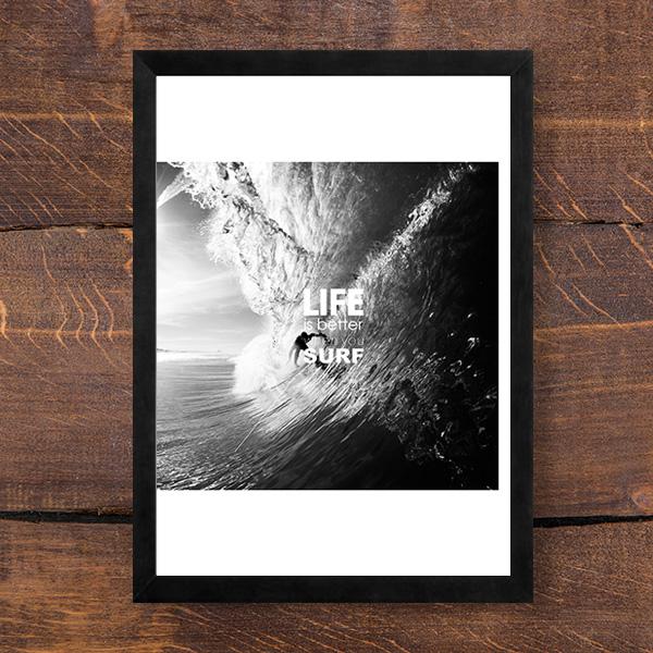 画像1: LIFE IS BETTER WHEN YOU SURF   ポスター (1)