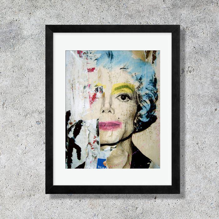 画像1: Michael Jackson マイケル・ジャクソン by Mr Brainwash ART ポスター 額縁付き (1)