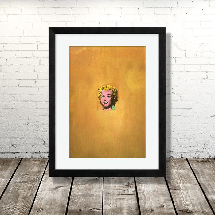 画像1:  Andy Warhol アンディ・ウォーホル Gold Marilyn Monroe, 1962 ポスター 額縁付き (1)