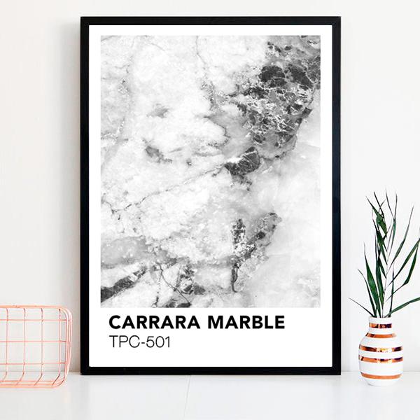 画像1: PANTONE Marble パントーン マーブル おしゃれポスター (1)