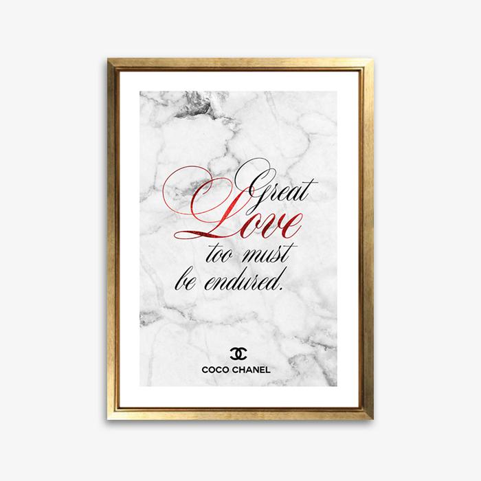 画像1: CoCo CHANEL ココシャネル 名言 マーブル LOVE おしゃれポスター (1)