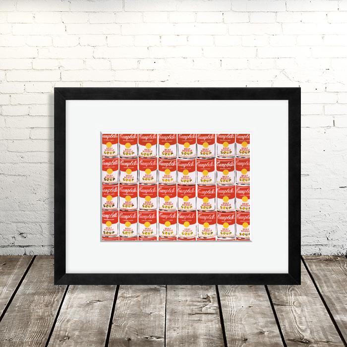 画像1: アンディ・ウォーホル Andy Warhol 『Campbell SOUP』額縁込み (1)