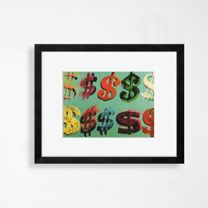 画像1: アンディ・ウォーホル Andy Warhol 『ドル記号, 1981』額縁込み (1)