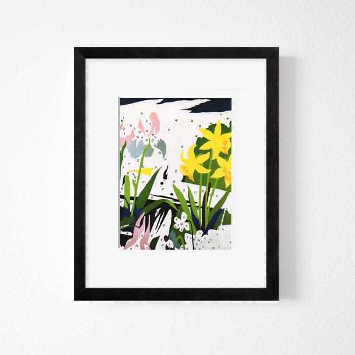 画像1: アンディ・ウォーホル Andy Warhol 『Flower Puzzle』額縁込み (1)