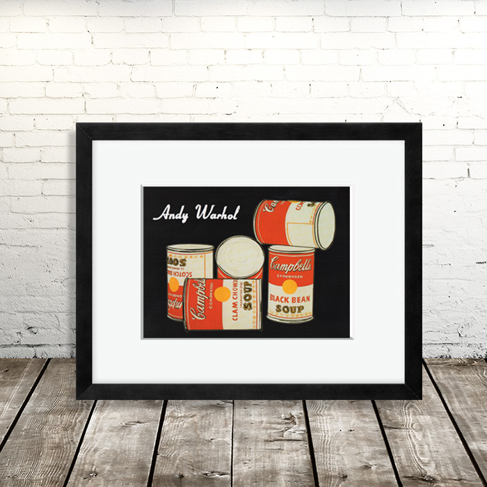 画像1: アンディ・ウォーホル Andy Warhol 『キャンベルスープ缶』額縁込み (1)